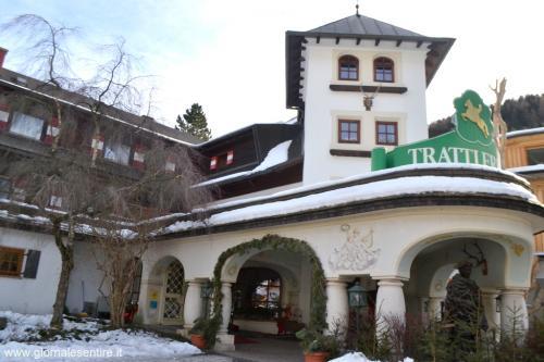 veduta invernale dell'Hotel Trattlerhof, l'hotel più antico di Bad Kleikirchenhheim molto richiesto anche per le vacanze sullo sci (foto oscar galletti)