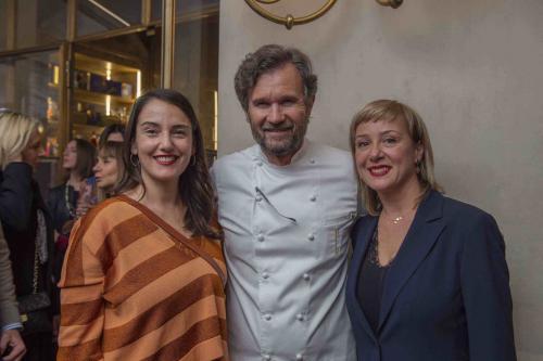 Lo chef Cracco con il duo artistico Goldschmied & Chiari