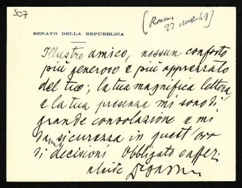 Le lettere di De Gasperi, un enorme patrimonio