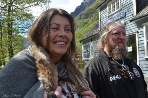 La fondatrice del villaggio vichingo  Njardarheimr di Gudvangen (foto: C.Perer)