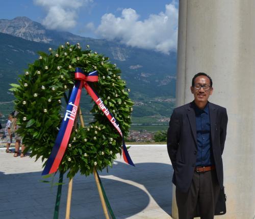 C'era anche il rappresentante del Dalai Lama, Chhimey Rigzen