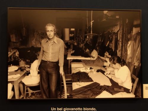 Renato Balestra agli inizi della sua carriera di stilista